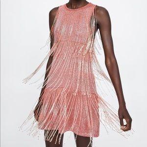 Zara limited Edition Fringe Dress Small